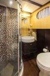 Azra Can Gulet Yacht, Bathroom With Shower.