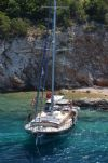 Cosh Gulet Yacht, Front Ariel View.