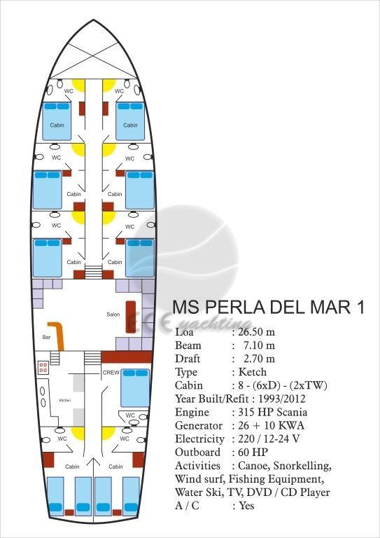 PERLA DEL MAR 1 Yat Planı